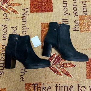 NWT Geox Black Leather Ankle Boots Size 40 (10US).